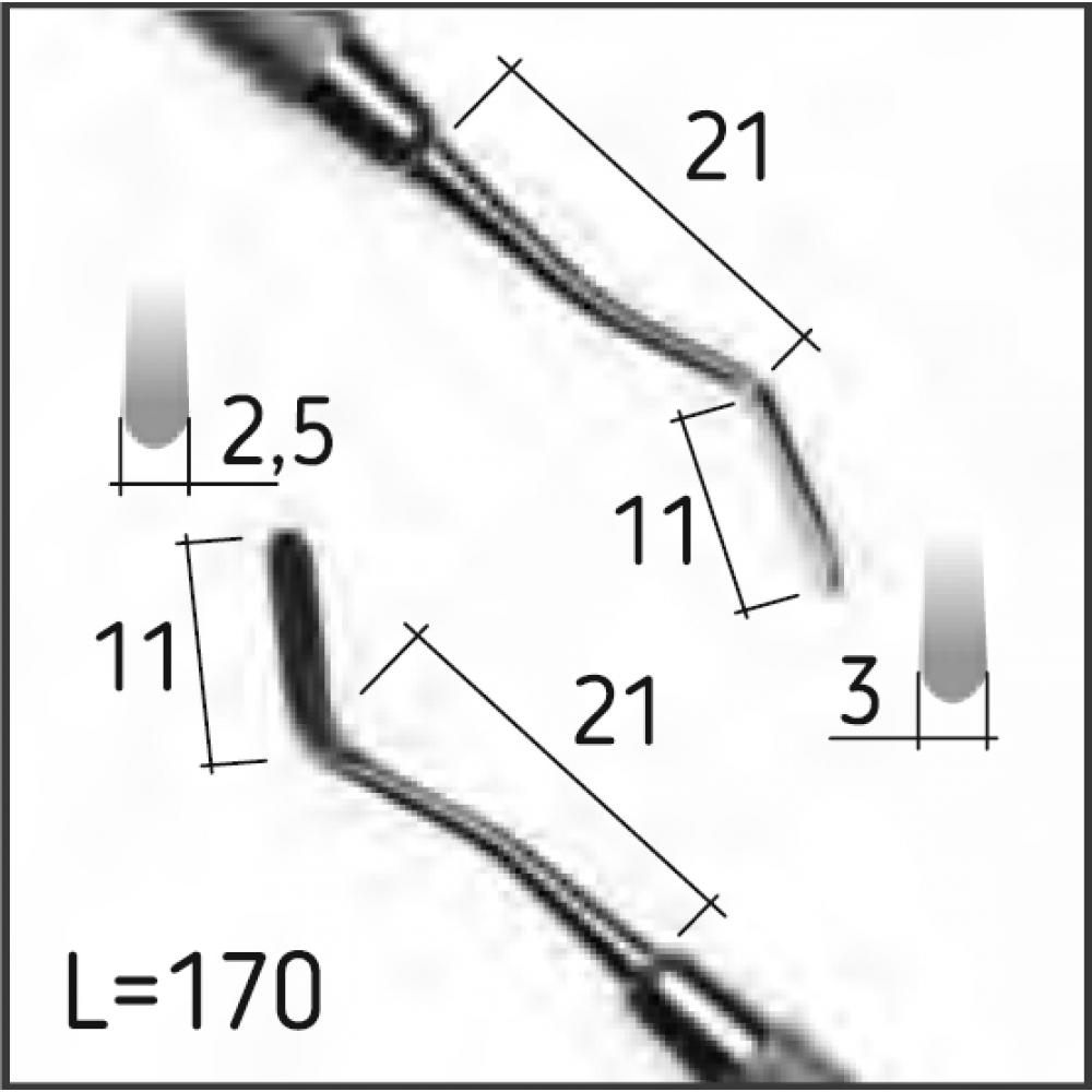 Двостороння гладилка 11, N0265-H