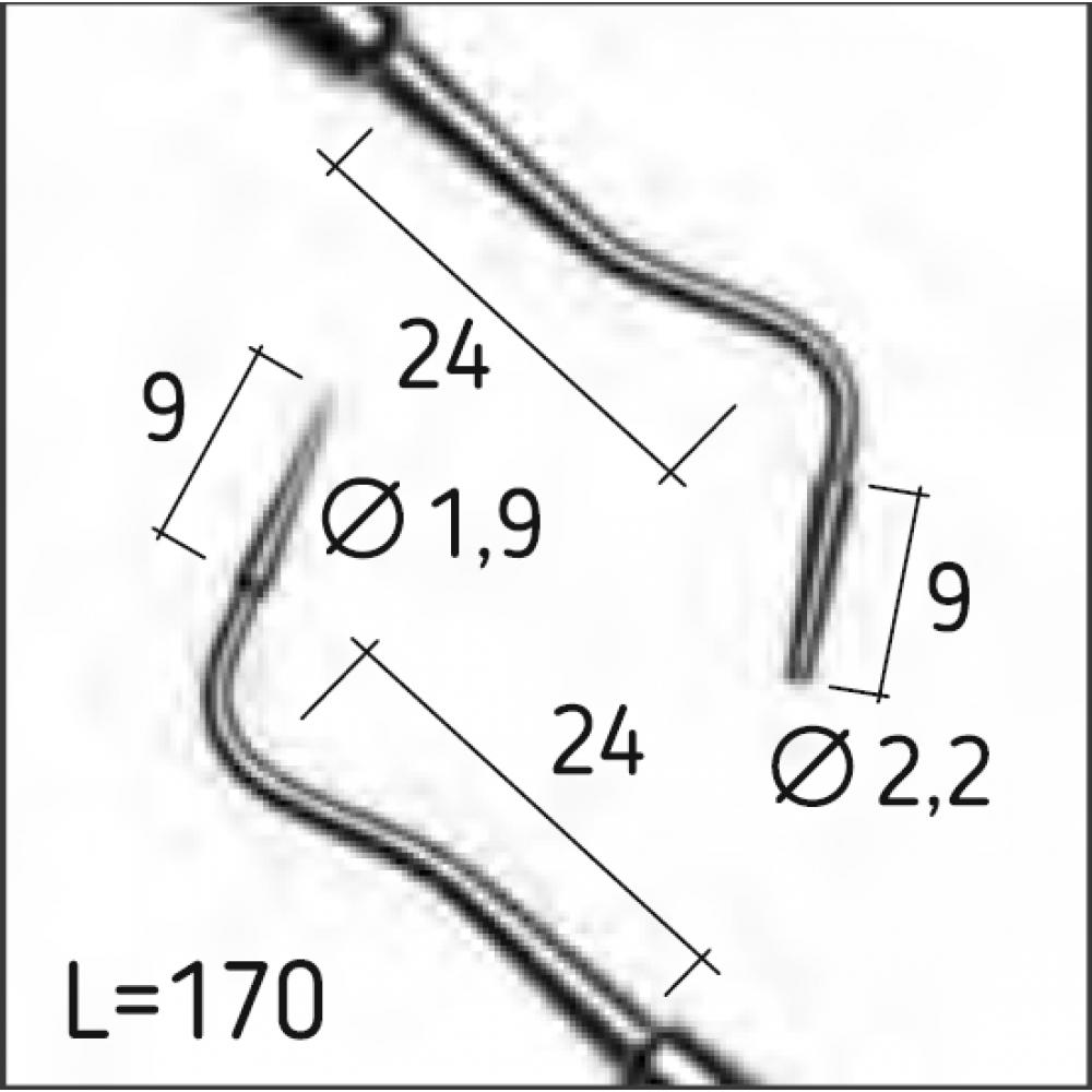 Двосторонній штопфер Мортонсона 2 (плагер), з видовженими циліндричними затупленими робочими кінцями, N0271-H