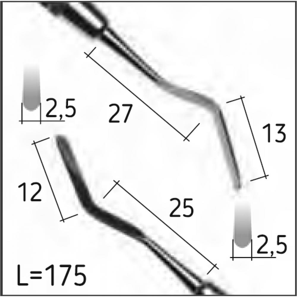Двостороння гладилка HEIDEMANN 2, N0457-R