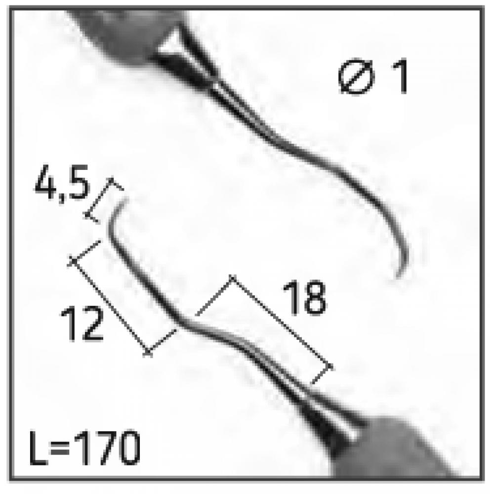 Кюрета LANGER 1-2, N0737-S