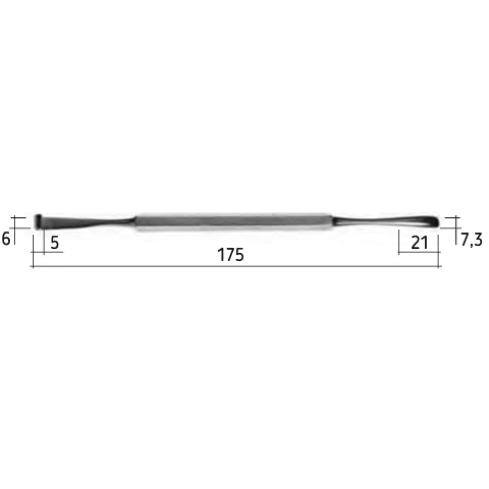 Двосторонній распатор Periosteal N1, N0794