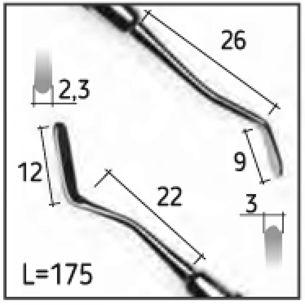 Двостороння гладилка 151, N1229-H