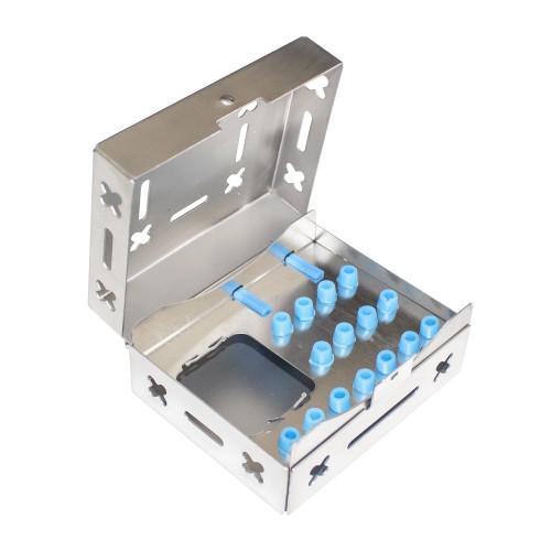 Тримач для бурів, коробка для хірургічних та імплантологічних інструментів (100 х 80 х 48), SIB-1010