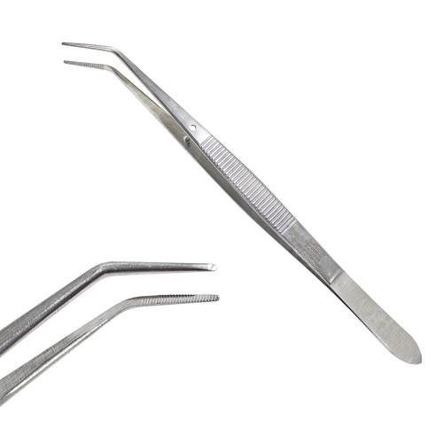 Пінцет стоматологічний Flagg зігнутий, 15 см, SD-0008-01