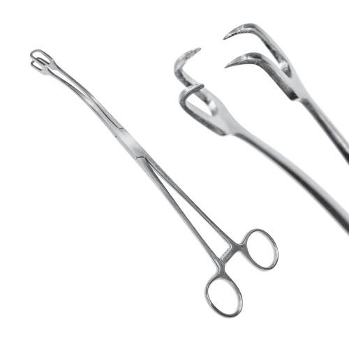 Щипці зубчасті Schroeder 24 cм, загнуті на бік, J-20-299