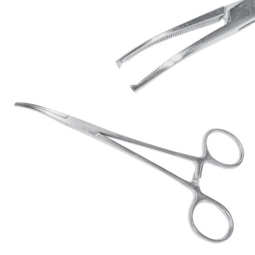 Затискач судинний Leriche (Кохера) 1:2 зубий, 15 см, загнутий