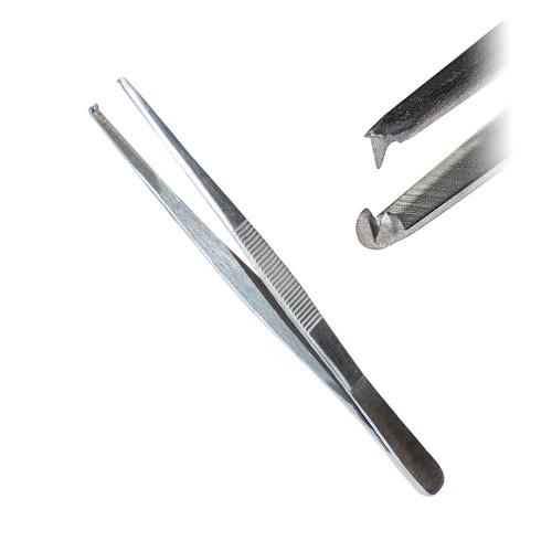 Пінцет хірургічний, 1:2 зубий, 14,5 см, J-16-031