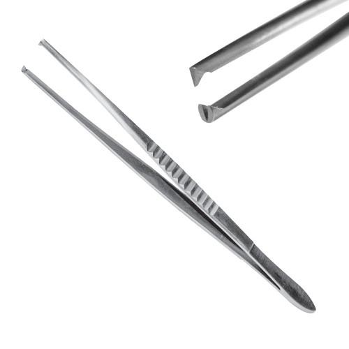 Пінцет хірургічний 1:2 зубий, 18 см, J-16-068