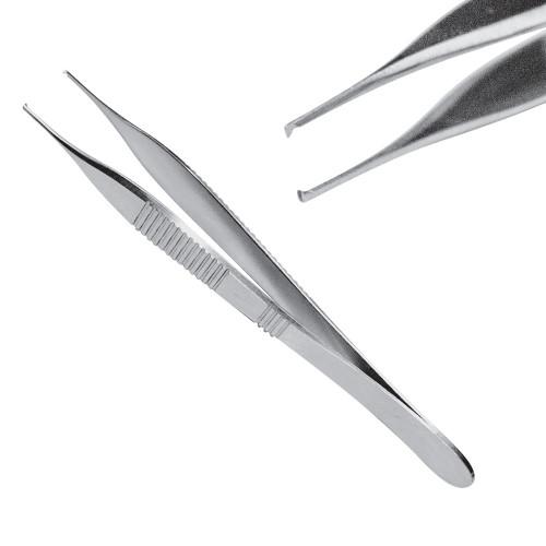 Пінцет хірургічний мікро Адсон, 1х2 зубий, 12 см, J-16-129
