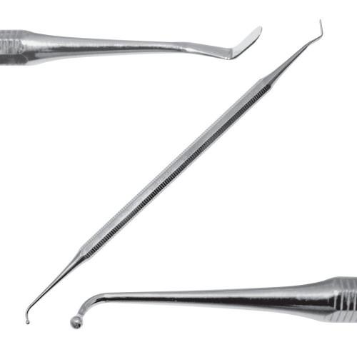 Штопфер гудзиковий - гладилка, вигнута по ребру, SD-1136-02
