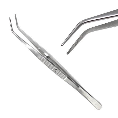 Пінцет стоматологічний Лондон-Коледж зігнутий, 15 см, SD-0007-05