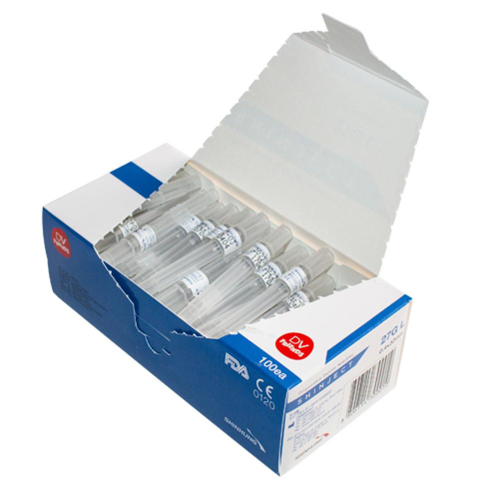 Голка стоматологічна SHINJECT 27G L (0.4x32мм), блакитна, метричний тип  (100 шт)