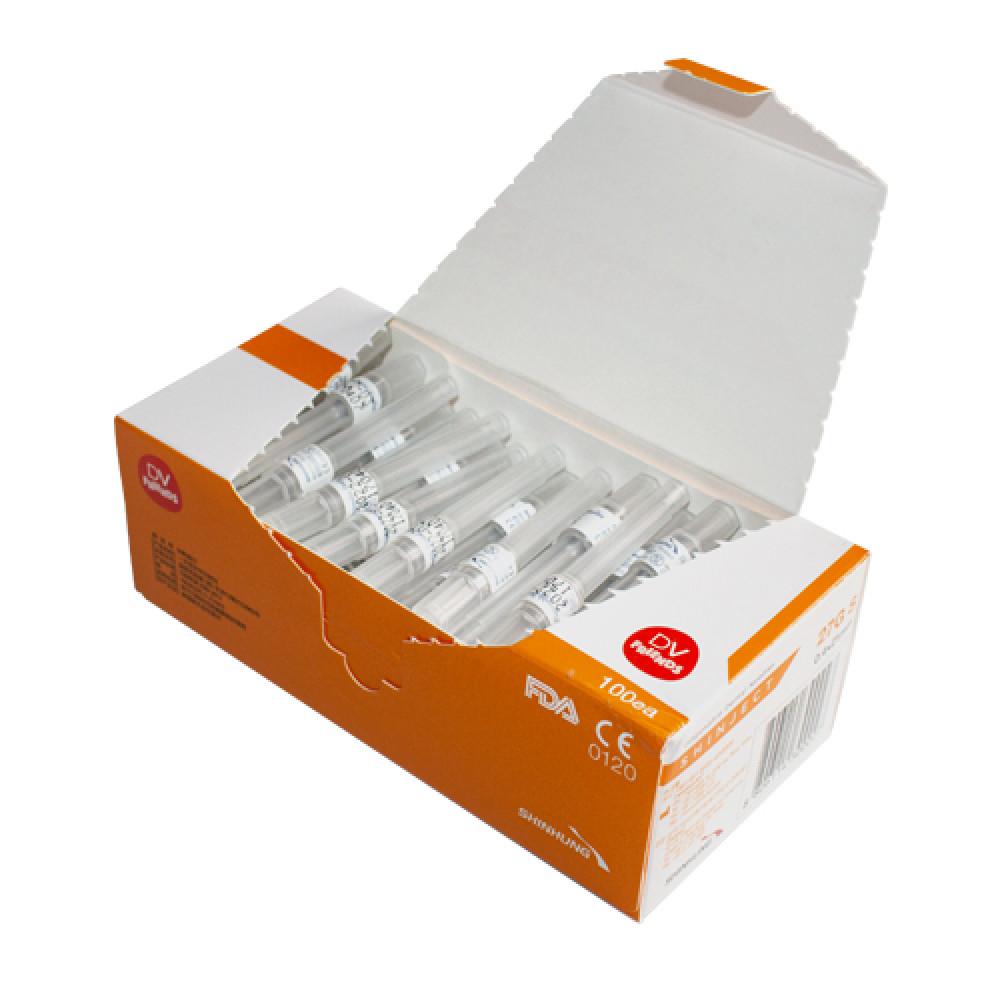Голка стоматологічна SHINJECT 27G S (0.4x21мм), оранжева, метричний тип (100 шт)