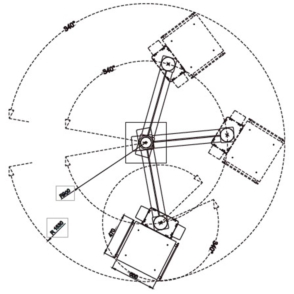 Консоль пiдвiсна моторизована одноплечова SMSP-90