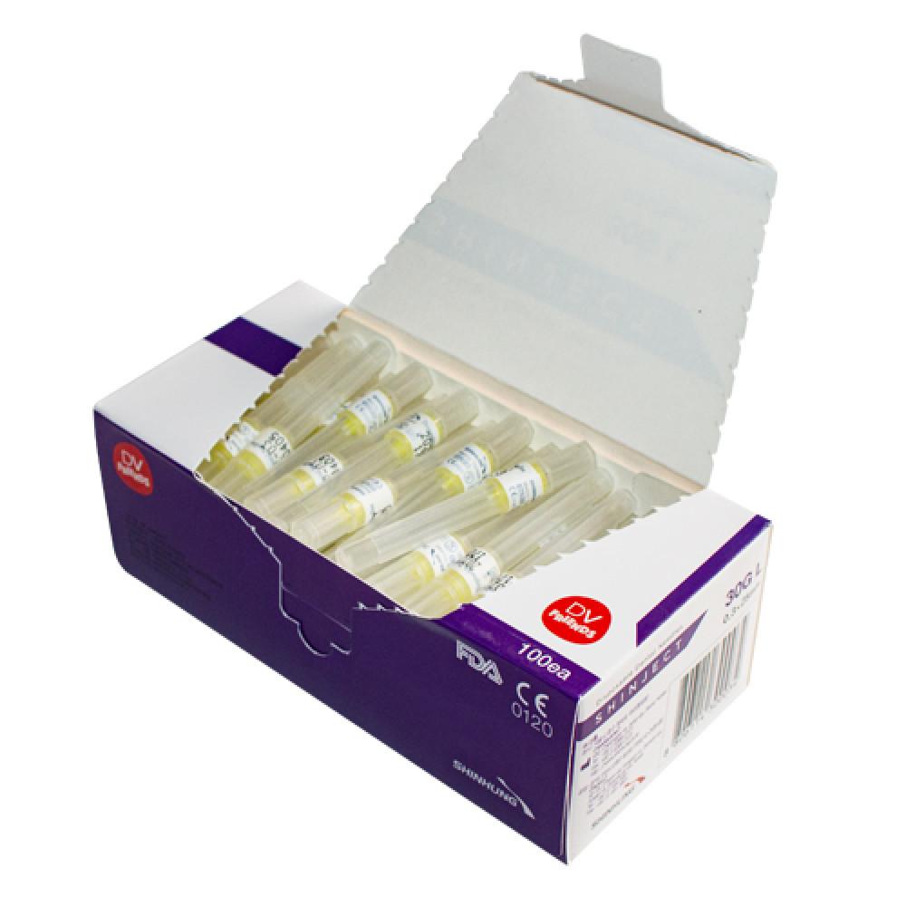 Голка стоматологічна SHINJECT 30G L (0.3x25мм), фіолетова, метричний тип(100 шт)