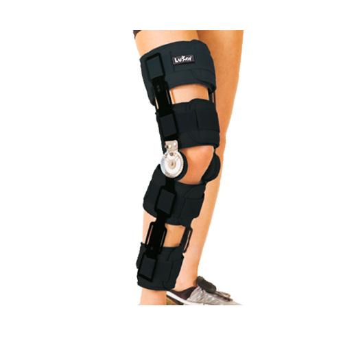 Ортез колінного суглобу з шарнірним регульованим кутом згину