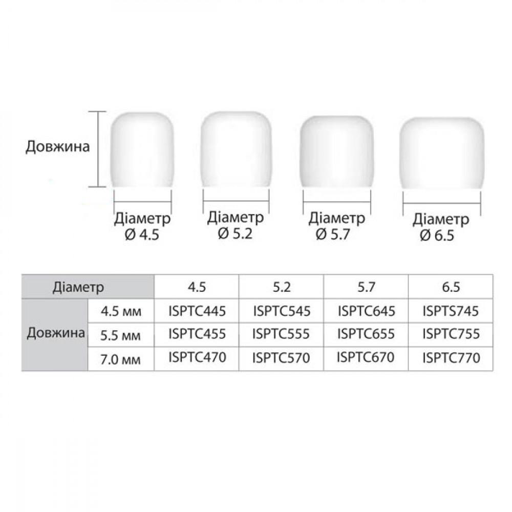 Ковпачок захисний / білий IS ISPTC655, діаметр 5.7 мм х довжина 5.5 мм